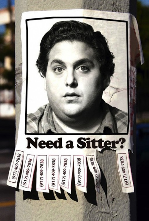 sitter the sitter rare promo movie poster promo jonah hill superbad horrible movie jonah hill fat