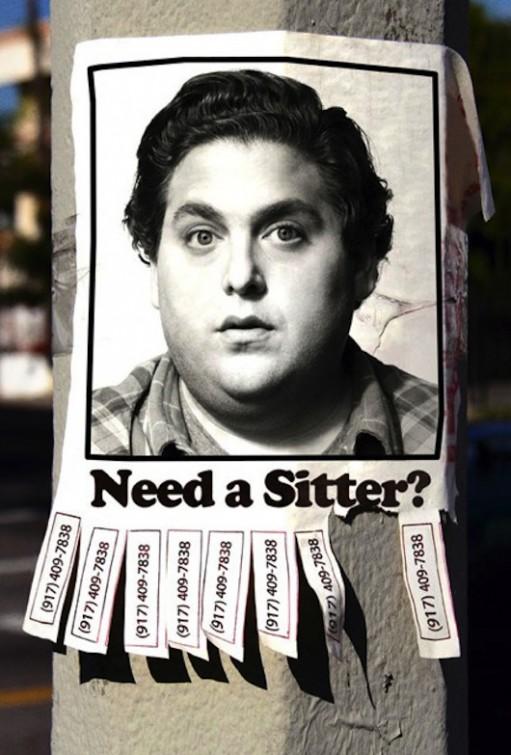 sitter the sitter rare promo movie poster promo jonah hill superbad horrible movie jonah hill fat