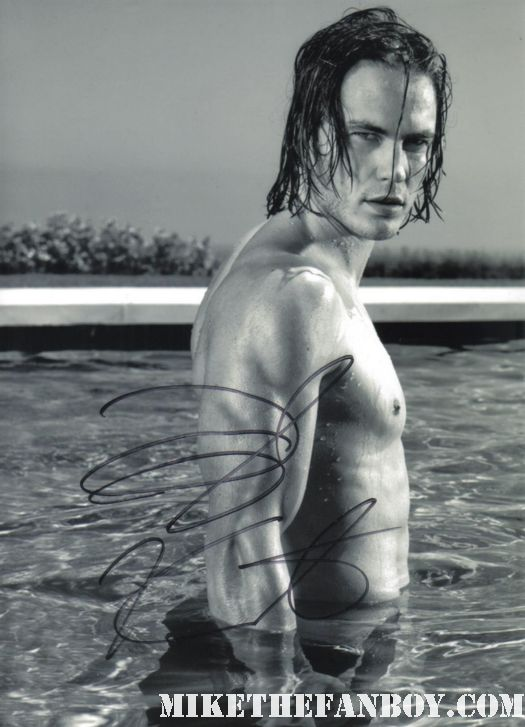 taylor kitsch signed sexy hot autograph wet shirtless photo friday night lights the covenant john carter from mars rare promo