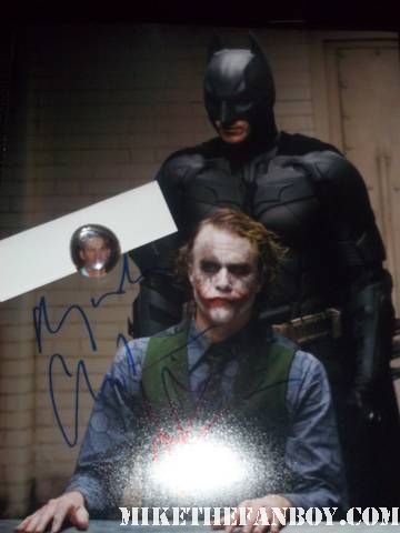 christian bale signed autograph dark knight returns rare promo photo heath ledger the dark knight rises set and location shooting in los angeles tom hardy and christian bale rare hot sexy promo rare the dark knight rises filming sign Magnus rex rare promo hot sexy christian bale on set filming