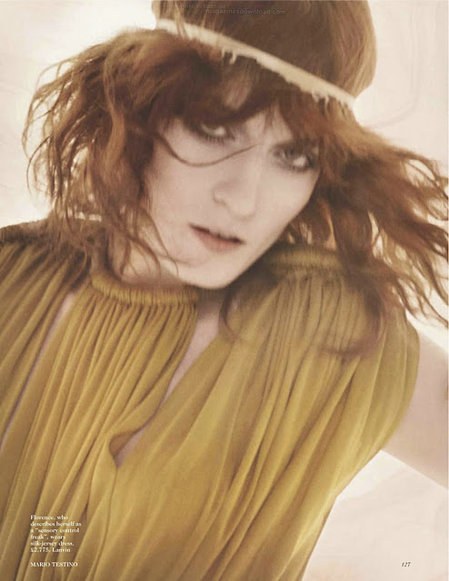 florence and the machines florence welch in the january 2012 issue of british vogue magazine hot sexy photoshoot photo shoot