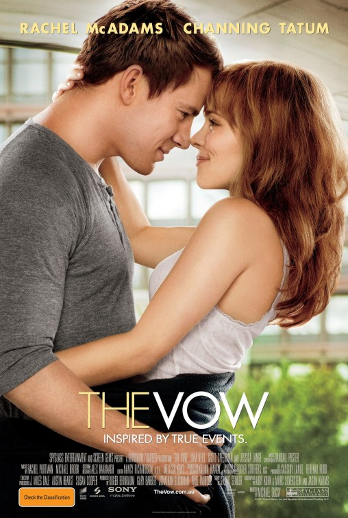 the vow rare movie poster promo channing tatum sexy rachel mcAdams hot movie poster sexy sweet adorable promo