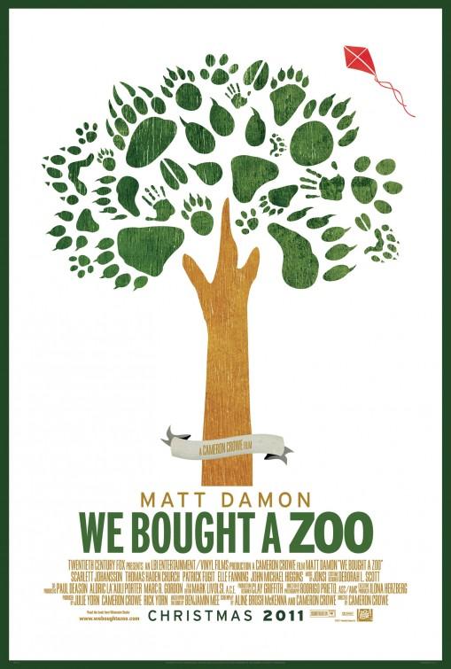 we_bought_a_zoo_ver2 we bought a zoo rare promo poster cameron crowe matt damon scarlett johanssen art poster