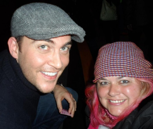 glee star cheyenne jackson poses with pinky from mike the fanboy at sundance film festival 2012 hot sexy gay