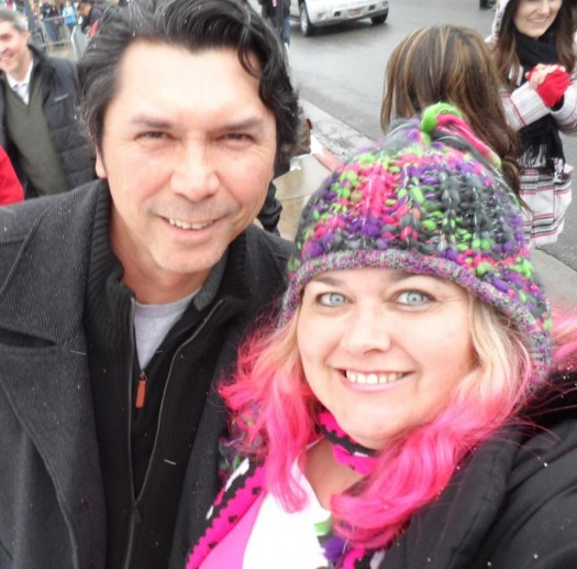 pinky with lou diamond phillips at the sundance film festival 2012 mike the fanboy la bamba