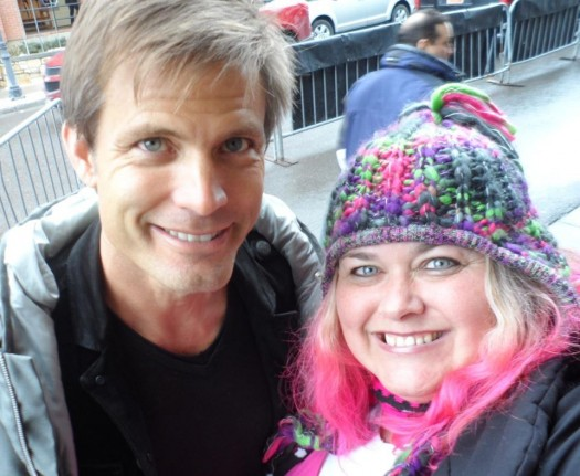 Casper Van Dien posing with pinky from mike the fanboy at the sundance film festival 2012 hot sexy rare sleepy hollow