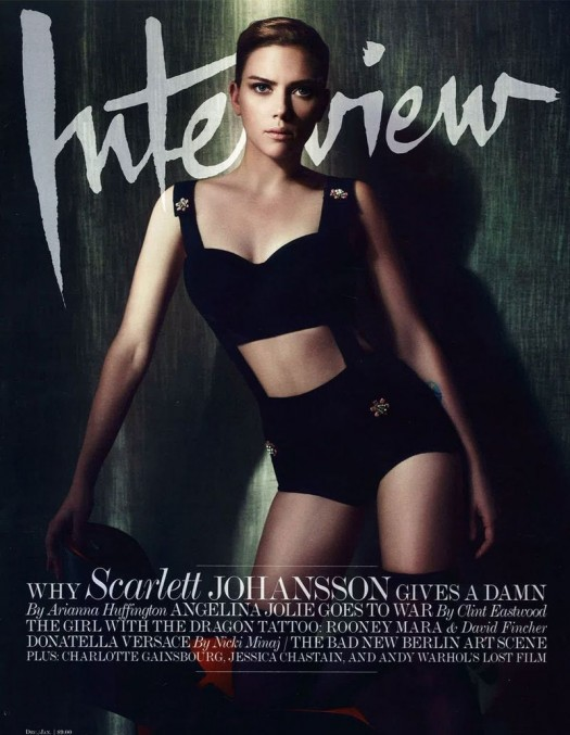 scarlett johansson on the cover of interview magazine december 2011 january 2012 scarlett johansson hot and sexy photo shoot for interview magazine rare avengers black widow naked hot promo rare interview magazine december 2011