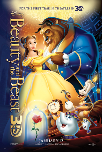 "BeautyBeast3D_Poster rare disney beauty and the beast in 3d rare promo poster hot belle Disney ""Beauty & the Beast 3D"" Lumiere press still beauty and the beast in 3d rare promo still hot promo"