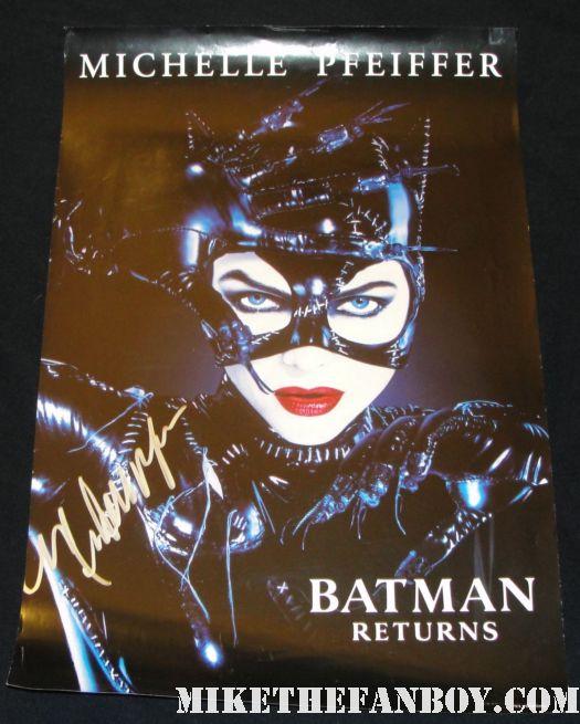 batman returns catwoman rare promo mini poster signed autograph rare hot sexy michelle pfeiffer