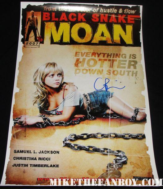 christina ricci signed autograph black snake moan rare promo mini poster bondage  magazine rare promo hot sexy
