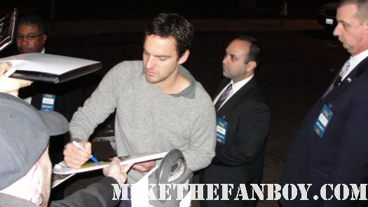 Jake M. Johnson from the New Girl signs autographs at the fox all star party 2012 rare hot sexy promo