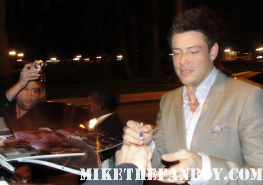 Cory Monteith from Glee Cory Monteith from Glee stops to sign autographs for fans at the fox all star party 2012 hot sexy finn quinn
