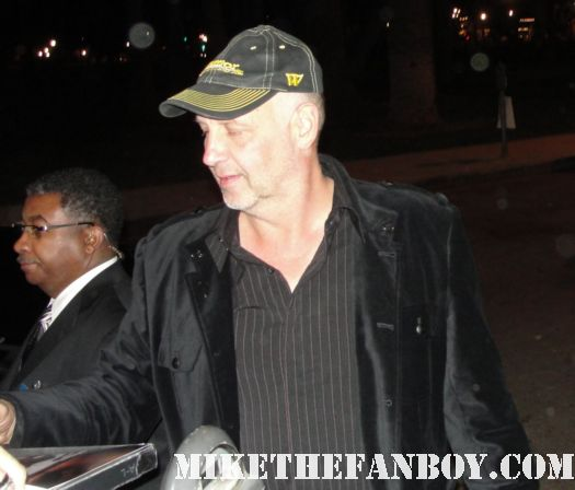 Nick Searcy from Justified signing autographs for fans at the fox all star party 2012 rare