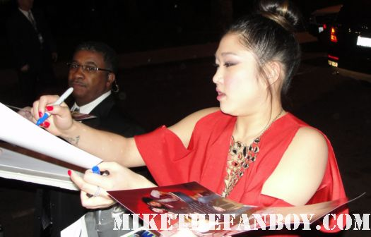 Glee star Jenna Ushkowitz signing autographs for fans at the fox all star party 2012 sexy hot rare musical