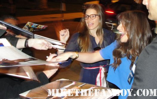 lea michele from glee starts to sign autographs for fans at the fox all star party 2012 hot sexy rare promo rachel finn