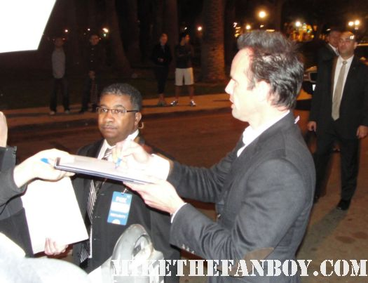 Walton Goggins from Justified stops to sign autographs for fans at the fox all star party in pasadena rare hot rare justified