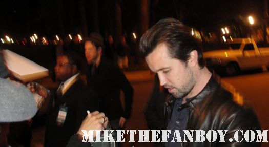 Glenn Howerton and Rob McElhenney stop to sign autographs for fans at the fox all star party it's always sunny in philadelphia