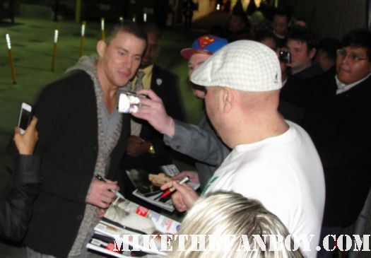 channing tatum looking sex and hot signing autographs for fans after a talk show taping rare promo hot rare photo shoot