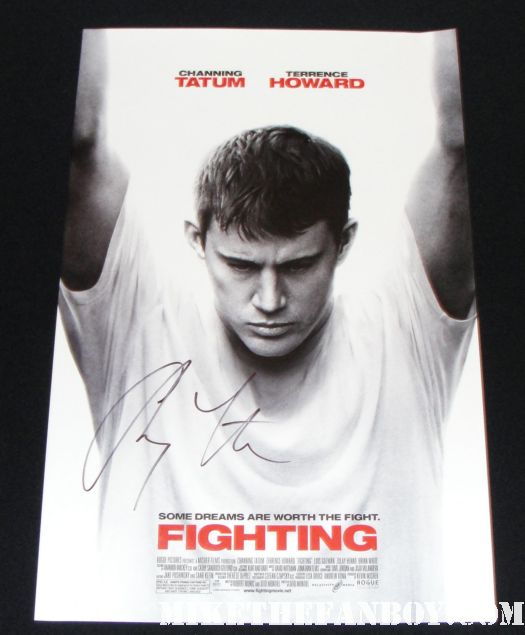 the fighting rare signed autograph channing tatum rare promo mini poster rare