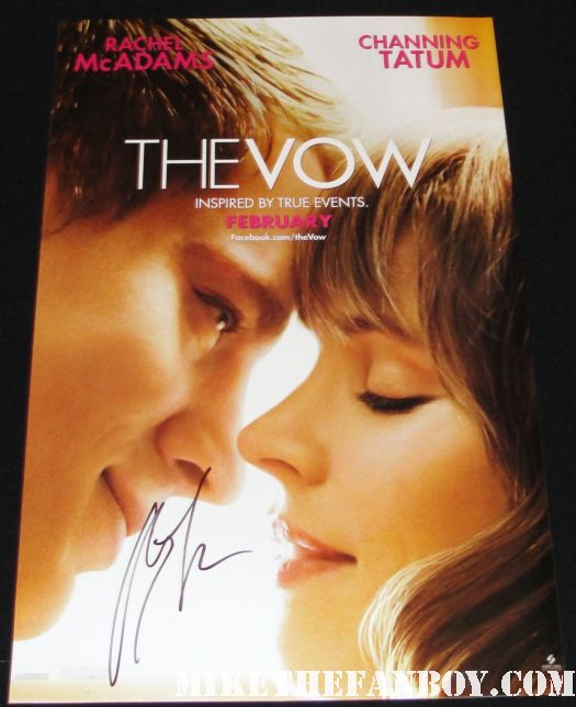 the vow signed autograph channing tatum autograph signed rachel mcadams rare promo hot sexy
