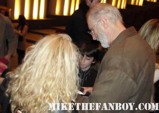 james cromwell signing autographs at the artist q and a screening rare promo six feet under signed rare promo