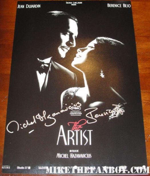 the artist rare promo mini poster rare promo Berenice Bejo Writer/Director Michel Hazanavicius autograph rare promo poster hot sexy