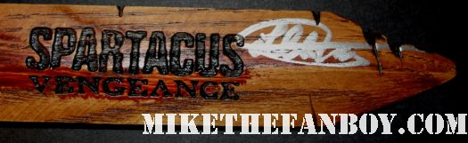 liam mcintyre signed autograph wood spartacus vengeance rare promo knife wood rare dagger press kit promo