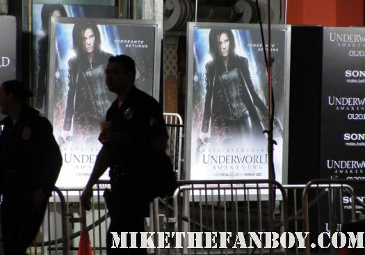 The Underworld Awakening world movie premiere with hot and sexy kate beckinsale signing autographs for fans