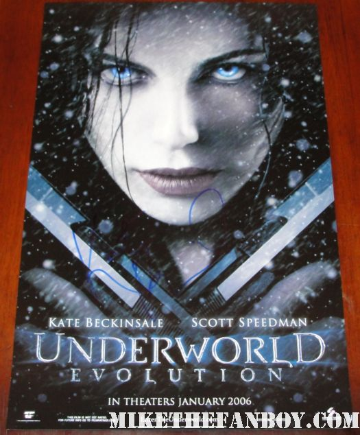 kate beckinsale signed autograph underworld evolution promo mini movie poster one sheet hot sexy