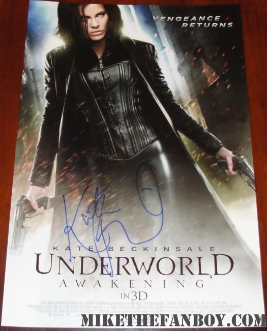kate beckinsale signed autograph underworld awakening promo mini movie poster one sheet hot sexy