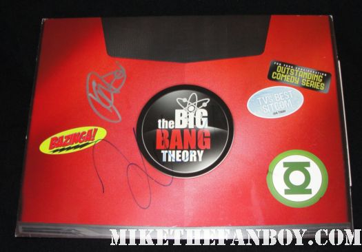 kaley cuoco and kunal nayaar signed autograph big bang theory promo emmy laptop rare