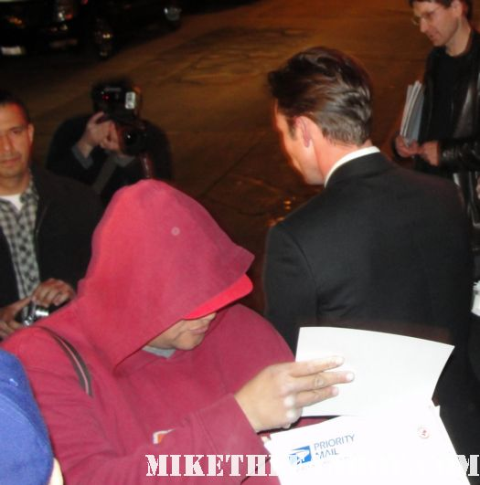 Desmond Harrington from dexter hot and sexy rare promo signing autographs for fans after the sag awards 2012
