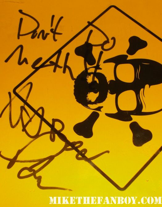 aaron paul signed autograph breaking bad season 4 promo press kit poster promo