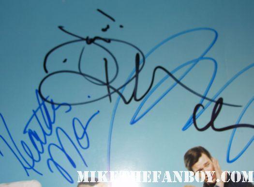 glee cast signed autograph promo mini poster diana agron jayma mays jane lynch lea michele rare photo