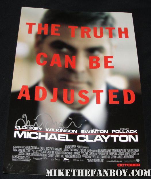 michael clayton signed autograph tilda swinton signed promo poster rare hot george clooney