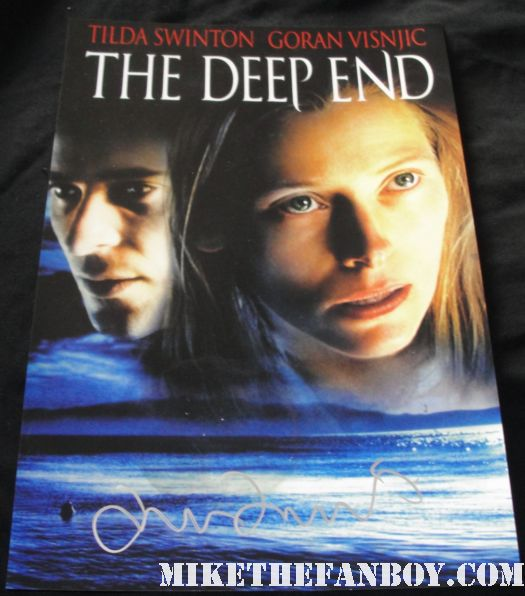 the deep end signed autograph tilda swinton signed promo poster rare hot