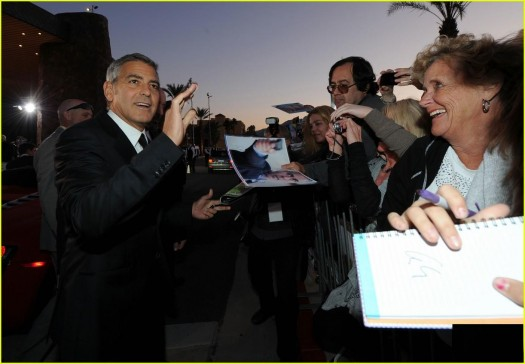 george clooney signing autographs at the palm_springs_international_film_festival rare poster promo 2012 rare awards gala