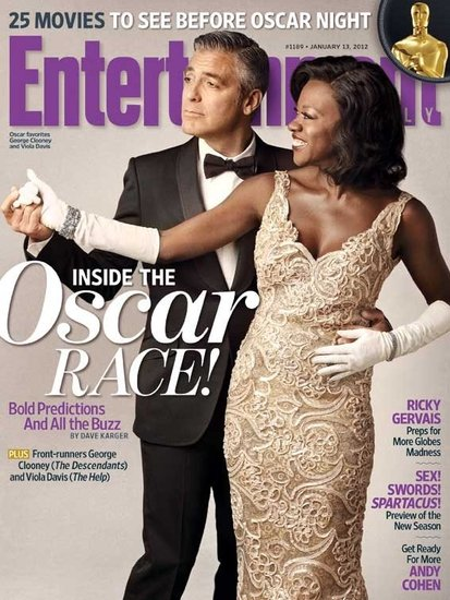 George-Clooney-Viola-Davis-Entertainment-Weekly-Cover rare promo academy awards issue rare hot sexy the help the descendants rare alexander payne