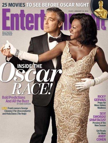 George-Clooney-Viola-Davis-Entertainment-Weekly-Cover rare promo academy awards issue rare hot sexy the help the descendants rare alexander payne