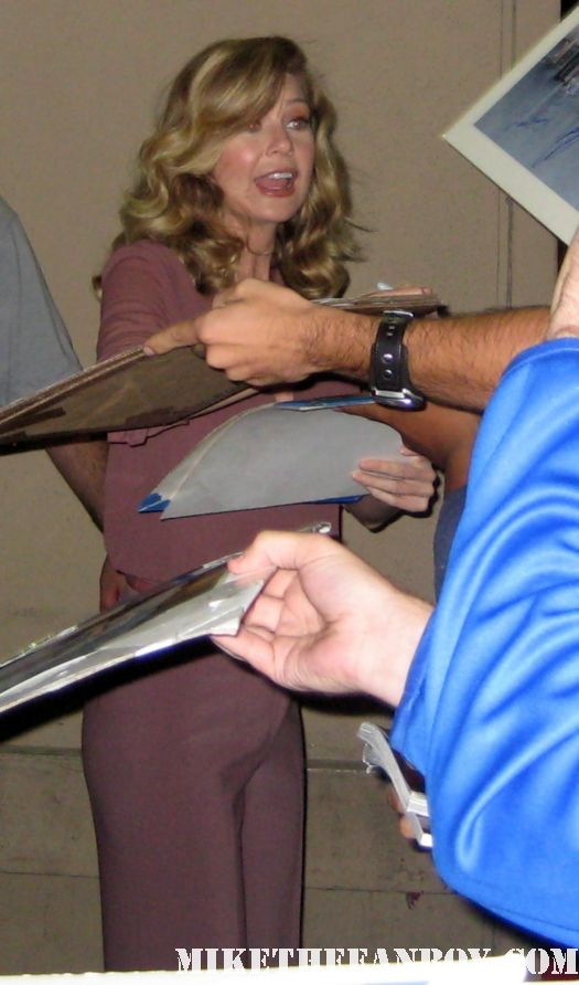 Ellen Pompeo signs autographs for fans waiting after a taping of jimmy kimmel live on ABC Meredith grey from grey's anatomy sexy hot rare promo photoshoot