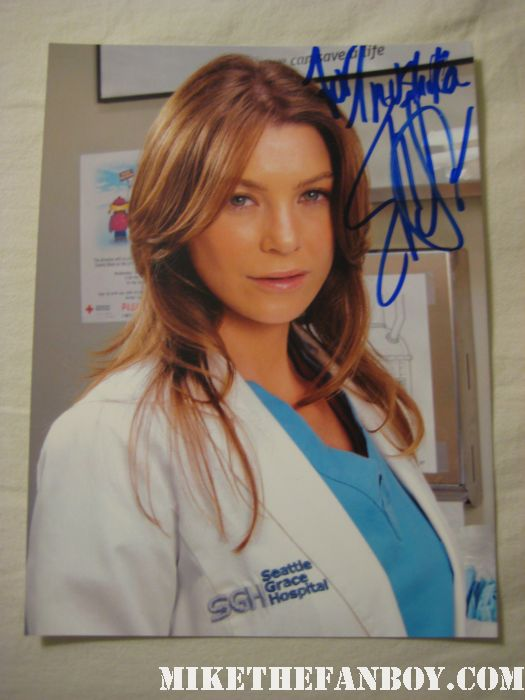 ellen pompeo signed autograph rare promo 8x10 photo hot sexy grey's anatomy star press promo still Don't You Play With Me CB! ellen pompeo yells at an autograph collector from mike the fanboy Ellen Pompeo signs autographs for fans waiting after a taping of jimmy kimmel live on ABC Meredith grey from grey's anatomy sexy hot rare promo photoshoot
