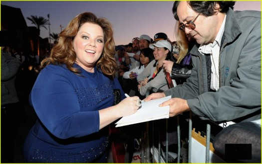 bridesmaids star melissa mccarthy signing autographs at the palm_springs_international_film_festival rare poster promo 2012 rare awards gala