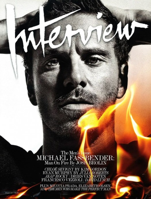 Michael Fassbender Interview magazine hot and sexy magazine cover interview magazine february 2012 fire