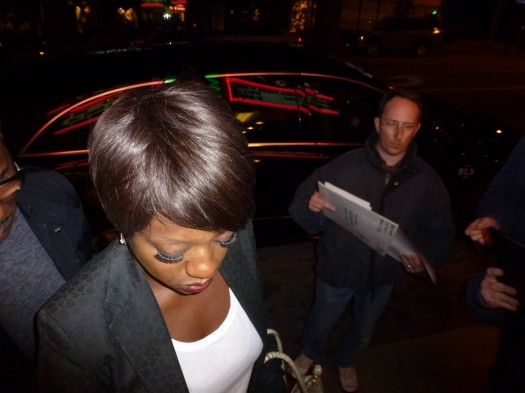 academy award nominee viola davis signs autographs for fans before a screening of the help at the aero theatre in santa monica hot sexy rare