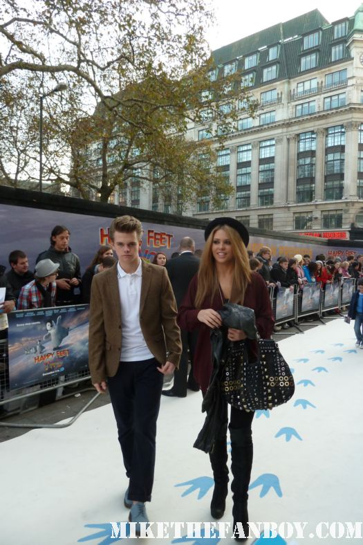 Bianca Gascoigne and her brother attend the happy feet two premiere in london united kingdom rare promo hot sexy