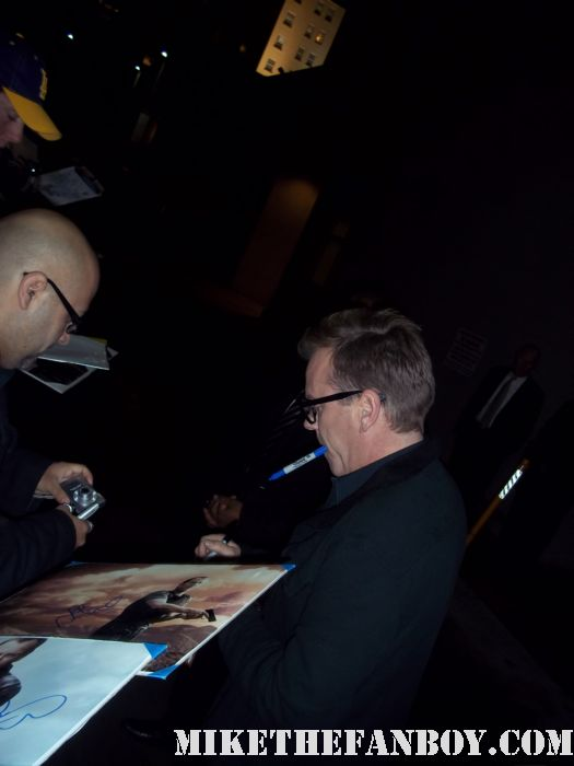 24 star Kiefer Sutherland signs autographs for fans before a talk show taping to promote touch ! Jimmy Kimmel touch rare lost boys