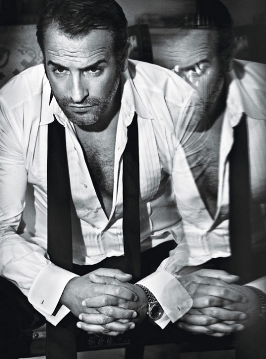 jean dujardin in w magazine's photo shoot for best performances 2012 hot sexy photo shoot rare promo