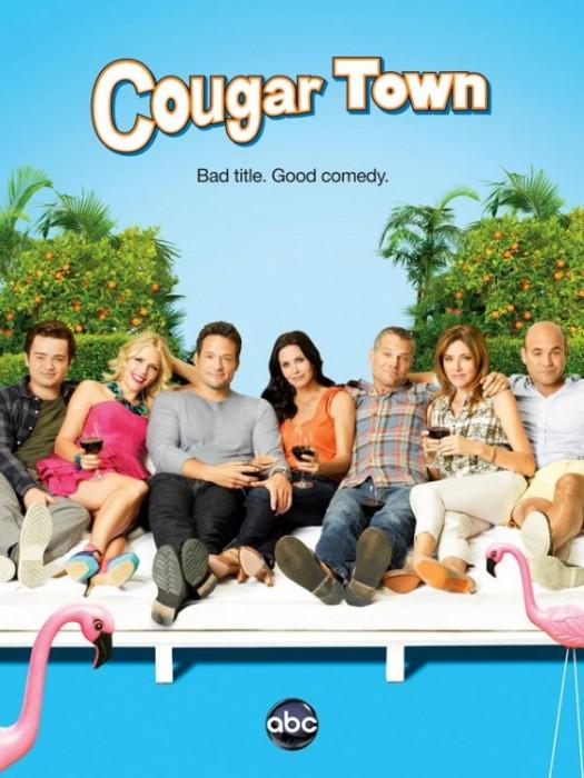 cougar_town_ver3 cougar town season 3 rare promo poster courteney cox jules cobb rare abc one sheet poster rare premiere