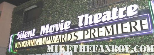 the silent movie theatre in los angeles marquee for the breaking upwards movie premiere