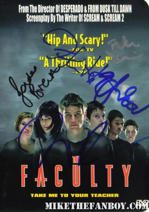 the faculty cast signed autograph dvd cover josh hartnett jordanna breewster eiljah wood